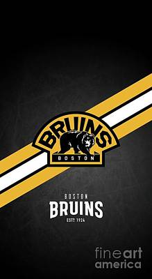 Bath Time Rights Managed Images - Boston Bruins Hockey Royalty-Free Image by Michael Stout