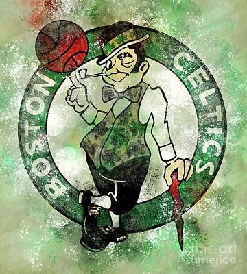 Royalty-Free and Rights-Managed Images - Boston Celtics Basketball Logo by Drawspots Illustrations