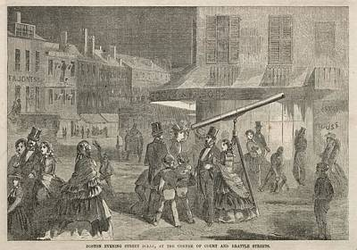 The Beach House - Boston Evening Street Scene, at Corner of Court and Brattle Streets 1857 Winslow Homer by MotionAge Designs