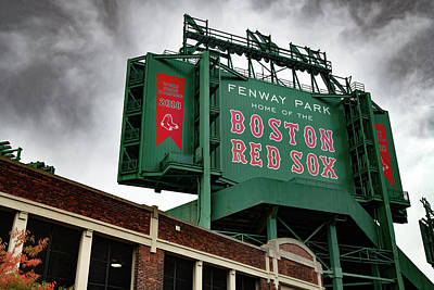 Recently Sold - Sports Royalty-Free and Rights-Managed Images - Boston Fenway Park Baseball Stadium by Gregory Ballos