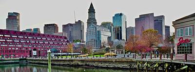 Guns Arms And Weapons - Boston Pano Overlooking Christopher Columbus Park by Frozen in Time Fine Art Photography