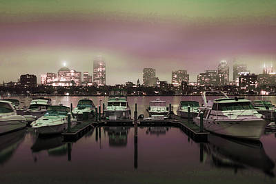 Surrealism Royalty-Free and Rights-Managed Images - Boston skyline, United States 6 - Surreal Art by Ahmet Asar by Celestial Images