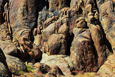 Modern Feathers Art - Boulder Abstract - Alabama Hills by Glenn McCarthy Art and Photography