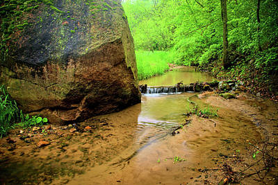 Photograph - Boulder in the Stream by Bonfire Photography