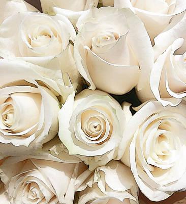 Grace Kelly - Bouquet of White Roses Stylized by Maria Keady