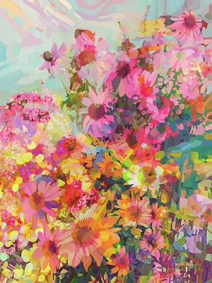 Digital Art - Bouquets by Loretta Busch