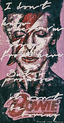 Painting - Bowie by Frank Van Meurs