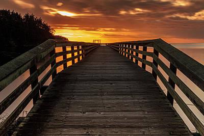 Photograph - Bowman Bay Pier by Tony Locke