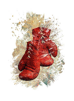 Sports Royalty-Free and Rights-Managed Images - Boxing Gloves by All Sport Art