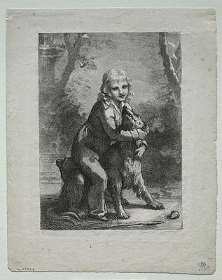 The Beach House - Boy with a Dog 1822 Pierre Paul Prudhon  by MotionAge Designs