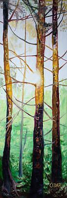 Painting - Branches Glowing by Cedar Lee