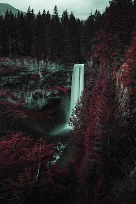 Surrealism Royalty-Free and Rights-Managed Images - Brandywine Falls Lookout Trail, Whistler, BC, Canada - Surreal Art by Ahmet Asar by Celestial Images