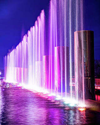 Royalty-Free and Rights-Managed Images - Branson Landing Fountains Rising by Gregory Ballos
