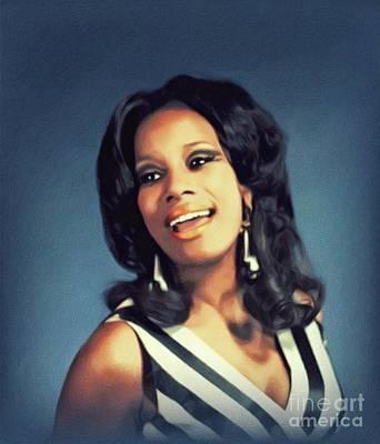 Music Paintings - Brenda Holloway, Music Legend by John Springfield