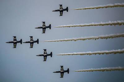 Surrealism Royalty Free Images - Bretling Jet Team L39 Albatross 2 - Surreal Art Royalty-Free Image by Celestial Images