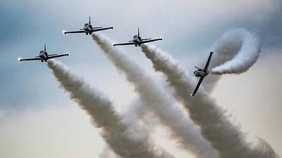 Surrealism Royalty Free Images - Bretling Jet Team L39 Albatross - Surreal Art Royalty-Free Image by Celestial Images