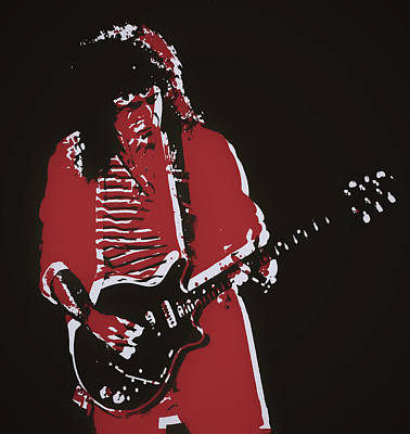 Music Paintings - Brian May by Dan Sproul