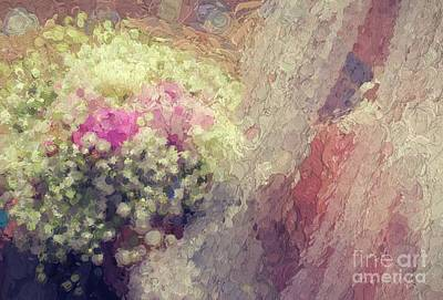 Sean - Bride with bouquet abstract by Patricia Hofmeester