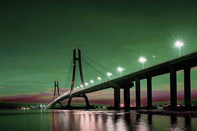 Surrealism Royalty-Free and Rights-Managed Images - Bridge 2 -  - Surreal Art by Ahmet Asar by Celestial Images