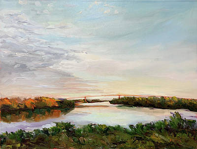 Painting - Bridge at Sunset by Bart Levy