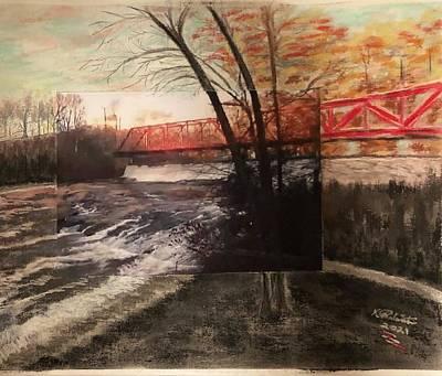 Mixed Media - Bridge by Karin Palminteri