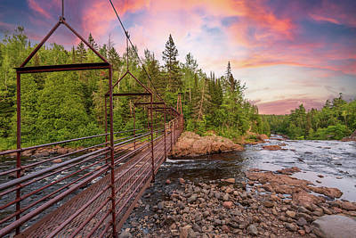 Photograph - Bridge Over The Baptism River by Sebastian Musial