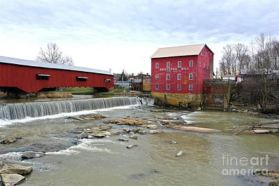Photo Royalty Free Images - Bridgeton Mill and Coverbridge Royalty-Free Image by Dwight Cook