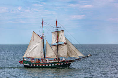Photo Royalty Free Images - Brigantine Tall Ship Fair Jeanne Royalty-Free Image by Dale Kincaid