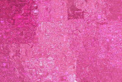 Royalty-Free and Rights-Managed Images - Bright abstract mosaic pink background with gloss by Julien