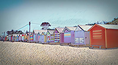 American West - Brighton Beach, Melbourne by Marlene Watson and Art Crew NZ