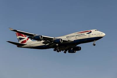 Kitchen Food And Drink Signs - British Airways Boeing 747                 4 by David Pyatt
