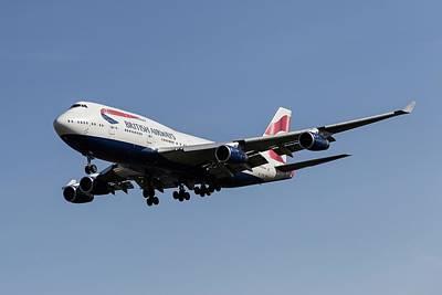 World War 2 Action Photography Royalty Free Images - British Airways Boeing 747-436         X3 Royalty-Free Image by David Pyatt