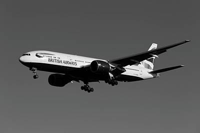 Wild Horse Paintings - British Airways Boeing 777-236        X14 by David Pyatt