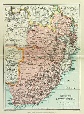 Drawings Royalty Free Images - British South Africa i1 Royalty-Free Image by Historic illustrations