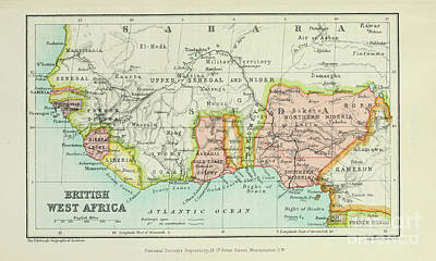 Drawings Royalty Free Images - British West Africa i1 Royalty-Free Image by Historic illustrations