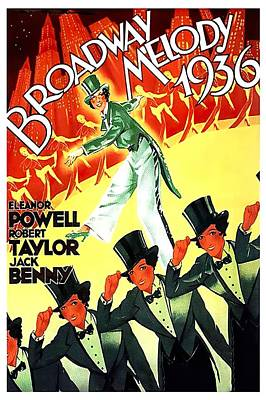 Mixed Media Royalty Free Images - Broadway Melody of 1936, with Eleanor Powell, 1936 Royalty-Free Image by Stars on Art