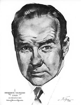 Drawings Royalty Free Images - Broderick Crawford by Volpe Royalty-Free Image by Stars on Art