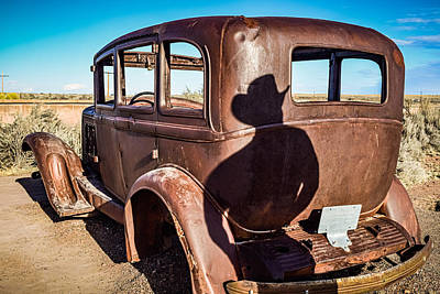Photograph - Broken Down on Route 66 by Bonny Puckett