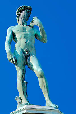 Thomas Kinkade Royalty Free Images - Bronze cast of David by Michelangelo, Piazzale Michelangelo, Florence, Italy. Royalty-Free Image by Joe Vella
