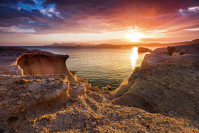 Patriotic Signs - Bronze Sea Rocks by Evgeni Dinev