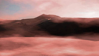 Surrealism Royalty Free Images - Brown Sand Field - Surreal Art by Ahmet Asar Royalty-Free Image by Celestial Images