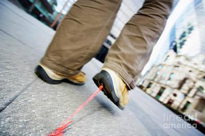 Pasta Al Dente - Bubble gum stuck to a shoe by Conceptual Images