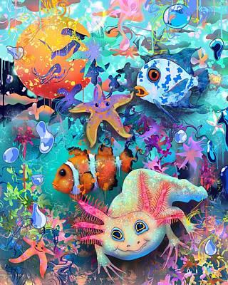 Digital Art - Bubbles by Jordan Soliz