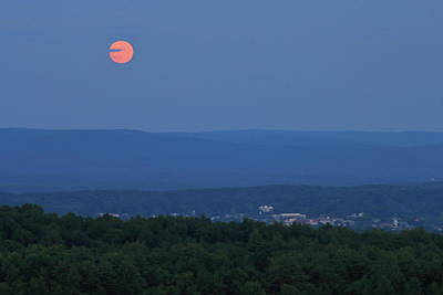 Olympic Sports - Buck Moon over Connecticut River Valley and Greenfield by John Burk