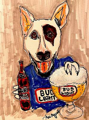 Modern Sophistication Line Drawings Royalty Free Images -  Bud Light Beer Spuds MacKenzie  Royalty-Free Image by Geraldine Myszenski