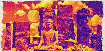 Winter Animals - Buddha and Bliss by Bliss Of Art