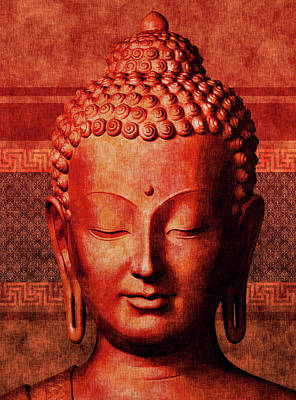 Royalty-Free and Rights-Managed Images - Buddha - Crimson Stillness by Studio Grafiikka