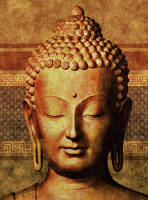 Royalty-Free and Rights-Managed Images - Buddha - Golden Tranquility  by Studio Grafiikka