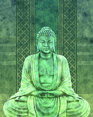 Royalty-Free and Rights-Managed Images - Dhyana - Buddha in Meditation 01 by Studio Grafiikka