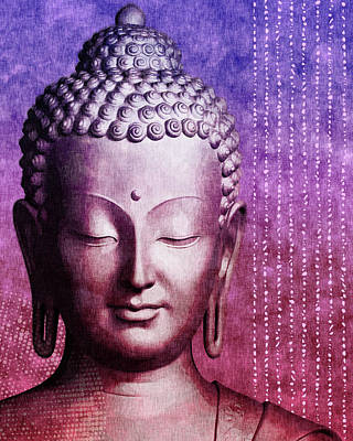Royalty-Free and Rights-Managed Images - Buddha - Purple Skies by Studio Grafiikka